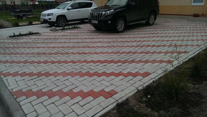 Укладка тротуарной плитки под автостоянку своими руками 67